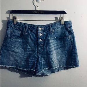 Denim - Denim shorts jeans distressed